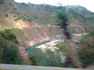 On the way to Bontoc aboard a very fast and very muddy 4x4